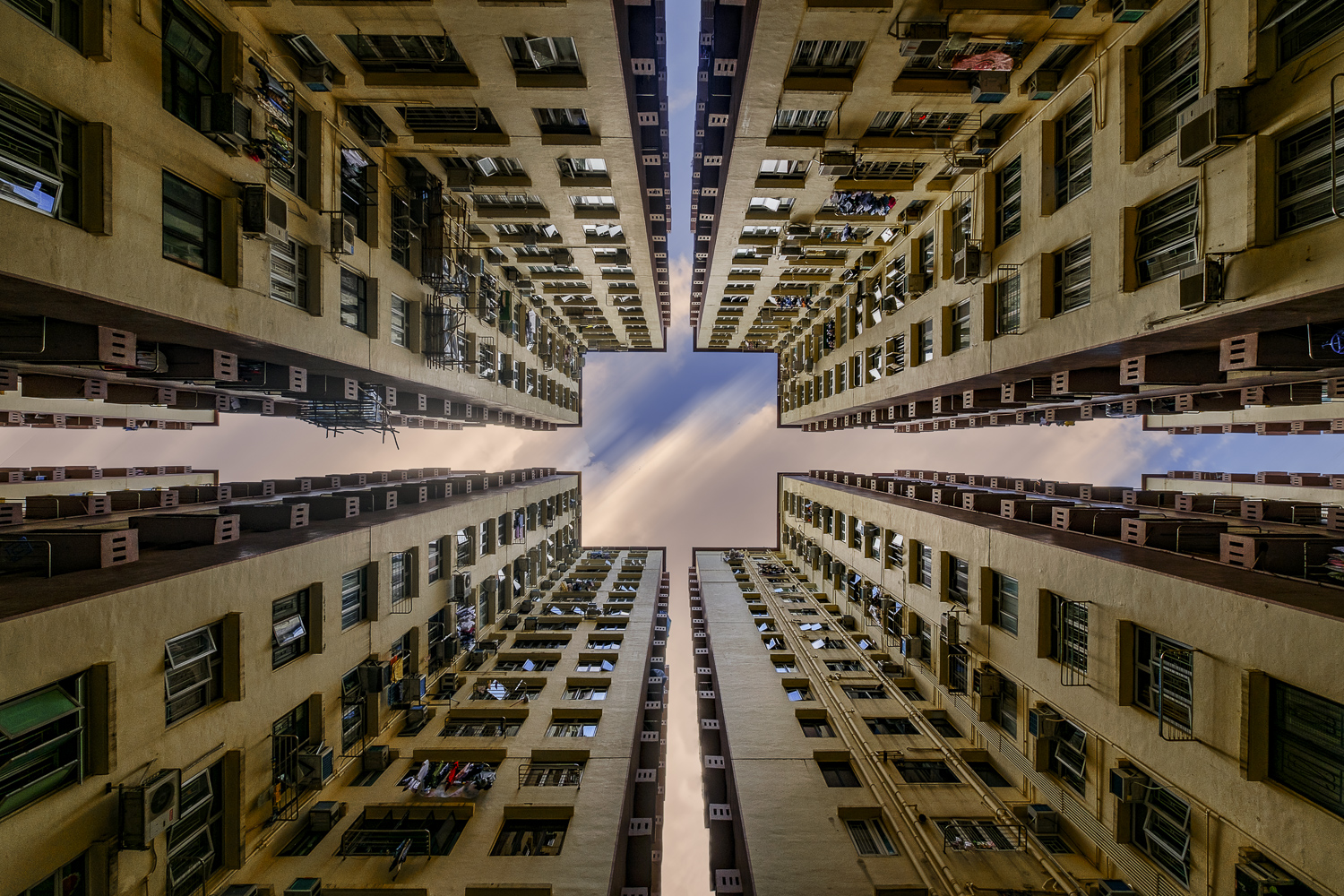 abstract architecture image of Bedford Garden in Hong Kong, China